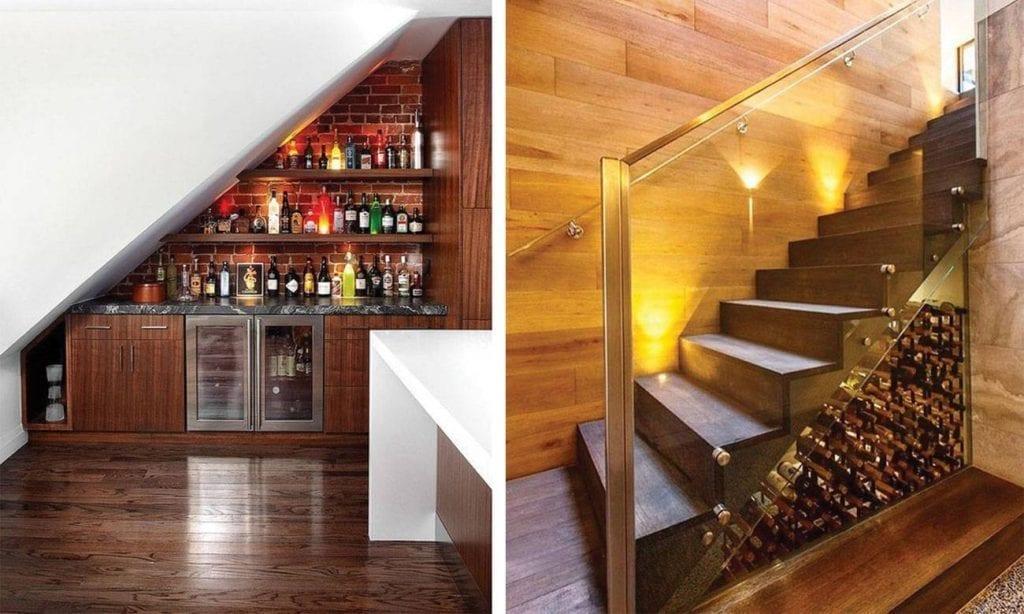 Aquele espaço perdido em baixo da escada.